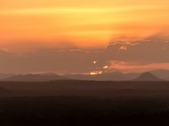 Sunset over Noosa (Chris Rose on Tour) Tags: sunset sun nature landscape warm sonnenuntergang cloudy natur australia hills noosa australien landschaft sonne hgel