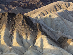Morning Hike 037A2387 (lycheng99) Tags: california morning shadow sun mountain mountains color nature sunrise landscape nationalpark hiking deathvalley hikers zabriskie zabriskiepoint deathvalleynationalpark morninghike 2016deathvalley
