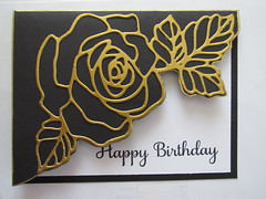 """ STAMPINGUP"" (zaazaa777) Tags: birthday black rose paper photography card cardstock diecut"