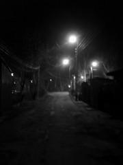 my backwards walk (emocjonalna) Tags: street blackandwhite bw blur streets night lights blurry noir