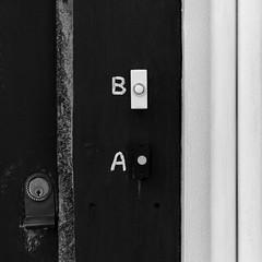 A B (Andrew Malbon) Tags: street door leica uk b bw black bells keys blackwhite handmade lock entrance streetphotography ab rangefinder hampshire flats summicron handpainted portsmouth handheld locks wabisabi 90mm doorbells southsea wornout m9 strongisland 90mmf2 a leicam9