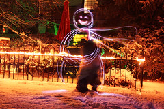 light snowman (autumnenchanted) Tags: christmas winter light woman snow man flower composition scarf canon festive outside outdoors photography lights graffiti photo snowman funny couple exposure lol warmth pic relationship snowmen romantic date cheerful piece winterscape picoftheday instagood