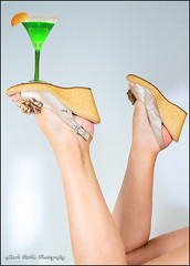 Funky Cold Medina (Mark Birkle) Tags: new eve pink orange woman cold sexy green love female happy foot shoe photo lemon glow underwear drink sandals magic year leg platform picture martini funky squeeze spell alcohol booze medina mystical heel years lime aphrodisiac potion wedges