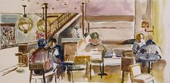 """Café """"le diplomatico"""" (geneterre69) Tags: café bar aquarelle surlevif"""
