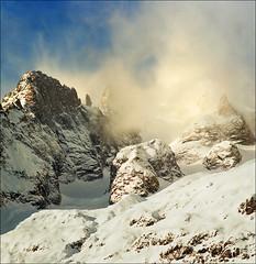 Peaks (Katarina 2353) Tags: winter italy mountain snow alps film landscape nikon courmayeur katarinastefanovic katarina2353