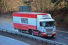 SCANIA G400 - WHITE & Company Removals Forres (scotrailm 63A) Tags: trucks removals lorries