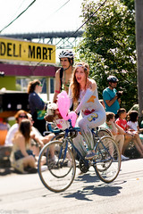 Under the Sea!! (Craig Damlo) Tags: seattle girl bike lensbaby nude fremont wa fremontsolsticeparade solsticeparade niksoftware edge80