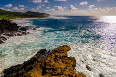 around Oahu (Edi Bhler) Tags: sea sky nature rock clouds meer natur himmel wolken waters fels seaspray brandung gewsser gischt rocksstones 28300mmf3556 nikond800 felsensteine 2015hawaii oahulm