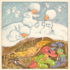 Shh! the summer people are sleeping (katinthecupboard) Tags: winter snow 1937 anthropomorthic vintagechildrensillustrations idabohattamorpurgo