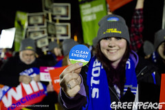 Clean Energy Message (Greenpeace USA 2015) Tags: usa democracy durham newhampshire vote republican democrat keepitintheground