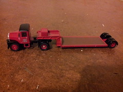 Scammell Highwayman Low Loader Model. (LBCSteve) Tags: red black brick london low loader scammell