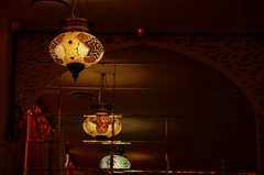 _IGP9407 (g0d4ather) Tags: light glass lamp restaurant mirror colorful indoor nobody arabian eastern