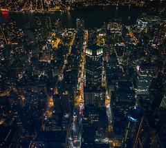 NY at Night (thorsten.porlein) Tags: life panorama house ny newyork skyline night photoshop canon eos lights town traffic nacht stadt lightroom wolkenkratzer picoftheday weitwinkel 70d dodgeandburn colorgrading teiltonung picofthenight