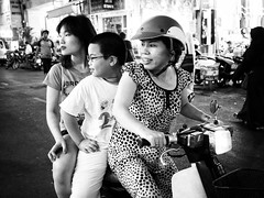 Ho Chi Minh through my lens (Faisal Aljunied) Tags: blackandwhite vietnamese candid streetphotography snap vietnam saigon hcmc hochiminh motorcyclist olympusomdem1 faisalaljunied