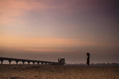 (Kals Pics) Tags: life morning sky people woman india weather silhouette clouds sunrise river landscape sand mood culture hues shore banks tamilnadu roi trichy cwc lightandlife kollidam rootsofindia kalspics thirumazhapadi chennaiweelendclickers