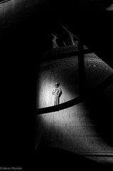 in the Dom tower #1 (al3x!s) Tags: travel shadow urban blackandwhite bw white black color church netherlands architecture town photo utrecht shadows bell bokeh gray oldtown anthropic nikkor35mm