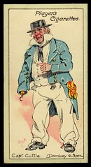 Cigarette Card - Captain Cuttle (cigcardpix) Tags: vintage advertising ephemera caricature dickens cigarettecards