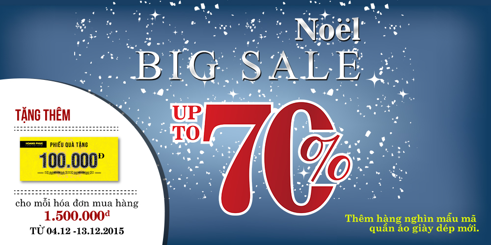 NOEL BIG SALE UP TO 70%