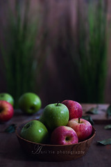 green and red (asri.) Tags: foodphotography 2016 fruitsvegetables 85mmf14 foodstyling darkbackdrop