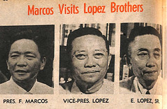 Free Press article on Marcos' visit to the Lopez brothers. (Presidential Museum and Library) Tags: martiallaw