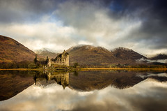 The Highland Castle (Neillwphoto) Tags: sky reflection castle water clouds highlands argyll hills loch awe westernisles kilchurn