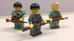 USMC Camo Patterns - Lego WW2 (ranger3181) Tags: world 2 two brick usmc infantry america army us war lego painted united helmet collection equipment american figure ww2 second soldiers guns marines uniforms states minifig custom airborne weapons paratrooper minfig brickarms frogskin brickmania