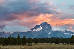 Watercolor (b_mccarley) Tags: sunset sky cloud mountain mountains clouds sunrise landscape colorful rockymountains wyoming grandtetons wy grandtetonnationalpark