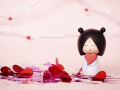 Will you be my Valentine? [7/52] (Jam-Gloom) Tags: cute love st project day heart momiji kawaii valentines romantic kokeshi 52 stvalentinesday stvalentines 52weeks project52 52weekproject momijilove olympusomd olympusomdem5
