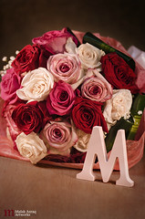 Love Story (Malak Azraq) Tags: pink flowers red stilllife white flower macro green love colors rose yellow photography nikon m story bouquet lovestory 105mm miccro d7000 latterm malakazraq maryamjassim
