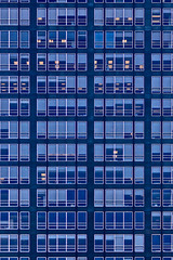 New York City Blues (RosLol) Tags: nyc newyorkcity blue windows usa building architecture facade america pattern many manhattan repetition architettura finestre roslol