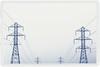 Blue Dancers (lisastein92) Tags: blue monochrome lines photo border cable symmetry pylon powerlines pylons cyanotype alienskin