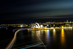 Friday Night At Sydney Opera House (davywg) Tags: nightphotography ferry canon boats ships sydney sigma australia walkway lighttrails therocks operahouse harbourbridge cahill