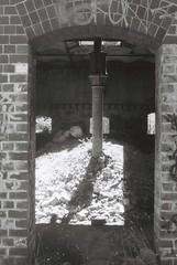Maltings (goodfella2459) Tags: new white black abandoned film wales analog 35mm highlands nikon factory south delta southern 3200 milf ilford f4 maltings mittagong