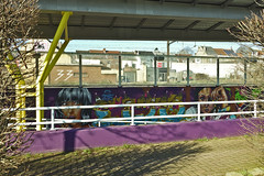 at Lembeek station (@necDOT) Tags: streetart graffiti gare lembeek