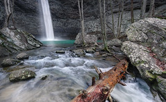 Ozone Falls: Spirit of the Fall (Charles Opper) Tags: trees winter color nature water canon landscape eos waterfall rocks tennessee wideangle gorge cascade fallentree ozonefalls canon7d
