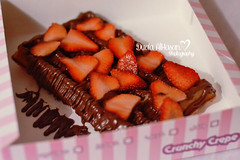 Waffle Night  (Miss.Dua'a) Tags: food dessert yummy strawberry chocolate kawaii crepe sweets waffles waffle