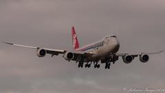 Cargolux 747-8R7 LAX-PIK (.Robinson Images) Tags: uk airplane scotland flying airport transport aeroplane cargo boeing 747 prestwick cargolux pik dash8 ayrshire 7478 lxvcj 7478r7