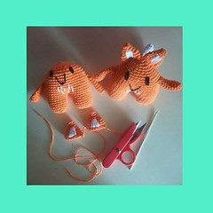 Minis en progreso (Miss Carlaina Love!) Tags: art kids toys knitting dolls handmade crochet fox amigurumi ganchillo