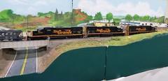 Rio Grande Tunnel Motor Trio (atjoe1972) Tags: railroad scale train layout colorado tunnel denver modular locomotive ho trailerpark 187 riogrande unit modelrailroad tunnelmotor sd40t2 coaltrain drgw 5348 5371 5374 athearn atjoe1972 rockymountaintoytrainshow 12122015