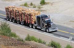 KW Onaping falls, Ontario. 9-12-2012 (jackdk) Tags: tractor truck log semi semitruck kw kenworth tractortrailer logtruck