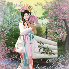 { Artist of a floating world } (Trinetty Skytower) Tags: beauty fashion digital asian photography model avatar sl fantasy secondlife virtual geisha genesis enchantment astralia catwa silveryk collabor88 gachagarden empyreanforge