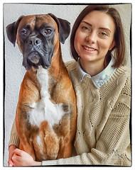 Nono & Tyson 3 (Marcel de la Croix) Tags: dog friendship familie hund boxer freundschaft liebe tier tochter vertrauen