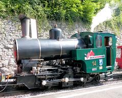 Brienz Rothorn Bahn, Switzerland - No. 14 built by SLM in 1996 stands at Brienz Station on the 9th July 2012 (trained_4_life) Tags: switzerland brienz brb berneseoberland brienzrothornbahn rackrailway
