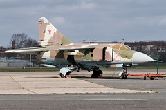 Ex GAF Mikoyan - Gurevich Mig 23 ML 20+30 (Vortex Photography - Duncan Monk) Tags: red paris france cold museum star war force 26 russia space aircraft aviation air jet aeroplane le german russian ml mig gaf bourget gurevich mikoyan mig23 2030