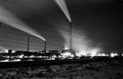 9 (rtw1r) Tags: longexposure nightphotography winter blackandwhite bw plant film ecology 35mm dark industrial factory darkness russia smoke urbanexploration pollution ilford analogphotography chemicalplant urbex airpollution filmphotography darkplace  industrialphotography ilfordpan400 pan400   rtwlr