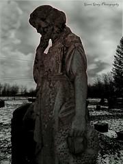 Evergreen Cemetery (Gerri Gray Photography) Tags: woman ny newyork cemetery grave graveyard statue female memorial upstate graves evergreen gravestone mementomori tombstones gravemarker cazenovia taphophilia