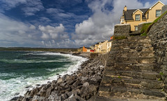Lehinch, Co.Clare. (Tony Brierton) Tags: sunshine waves seawall coclare 516 promanade lehinch