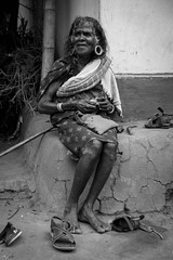 Grandmother from India (caracir) Tags: old woman india grandmother streetphotography kerala blacknwhite kalpetta fujifilmxe2