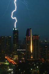 KL hot (alysyafiq) Tags: light storm hot weather fast strike lightning klccpark citylightning kualalumpurlightning alysyafiq