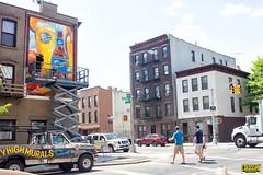 Blue Moon (Always Hand Paint) Tags: nyc beer brooklyn advertising outdoor progress ooh handpaint gowanus colossal bluemoon outdooradvertising colossalmedia b184 skyhighmurals alwayshandpaint